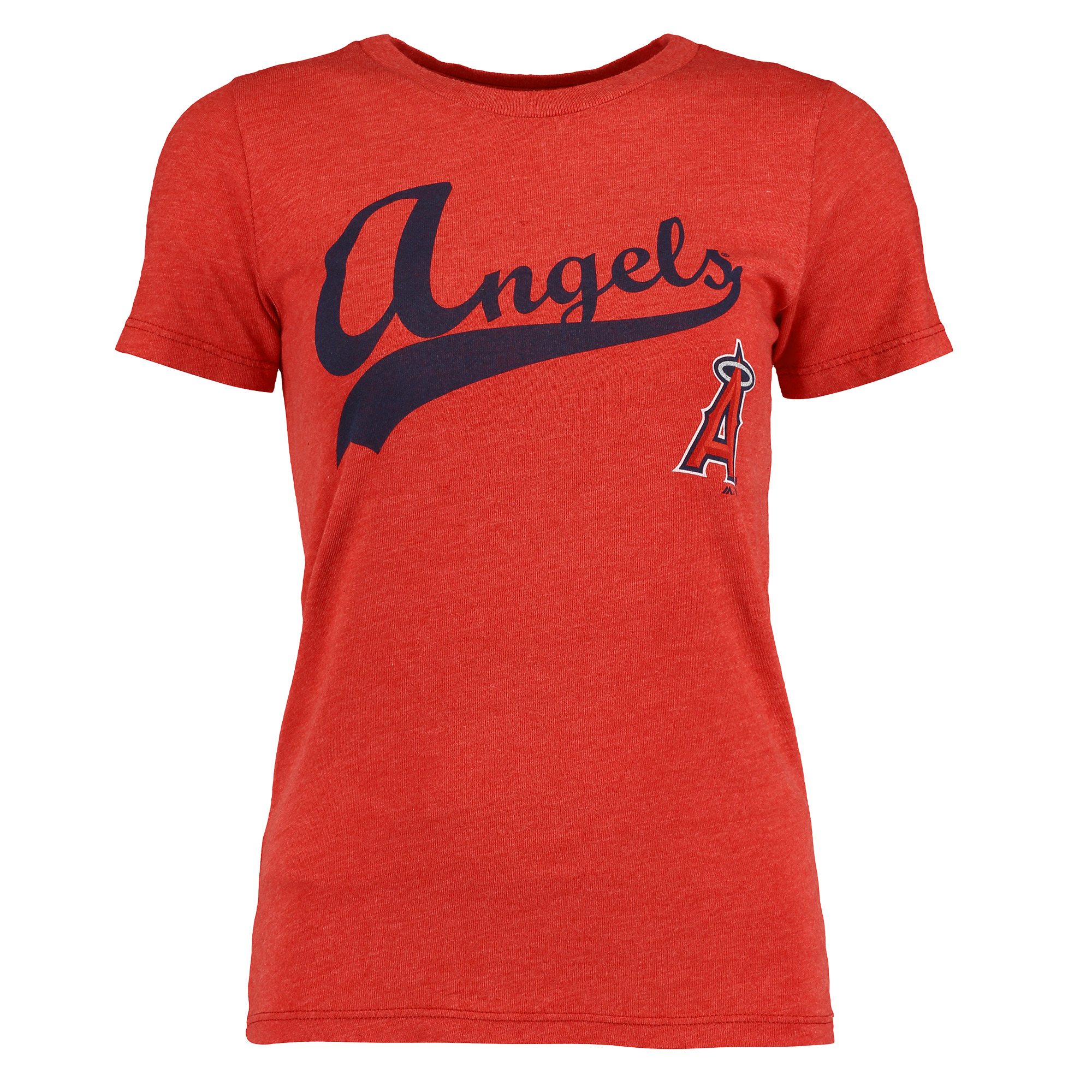 Los Angeles Angels Majestic Threads Women's Front and Back Tri-Blend T-Shirt - Red