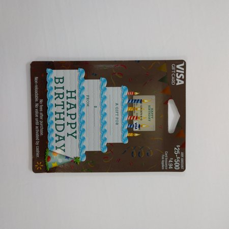 Visa Giftcard Wmt Variable Ed Gc Happy Birthday