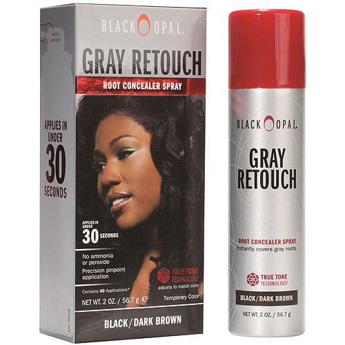 Black Opal Gray Retouch Root Concealer Spray, Black/Dark Brown, 2 oz
