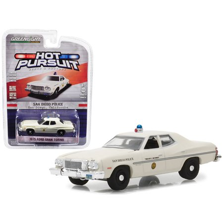 1975 Ford Gran Torino Police San Diego, California Hot Pursuit Series 27 1/64 Diecast Model Car by Greenlight