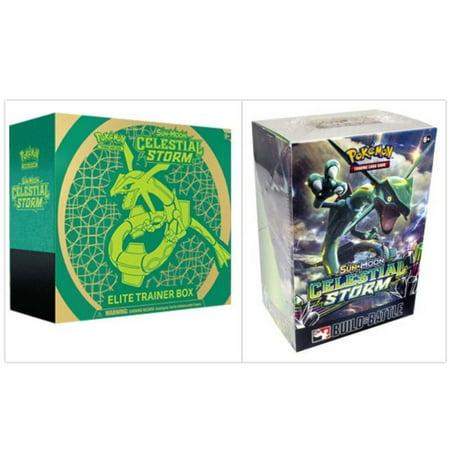 Pokemon TCG Sun & Moon Celestial Storm Elite Trainer Box and Prerelease Kit Pokemon Trading Card Game Bundle, 1 of Each. (Pokemon Kit)