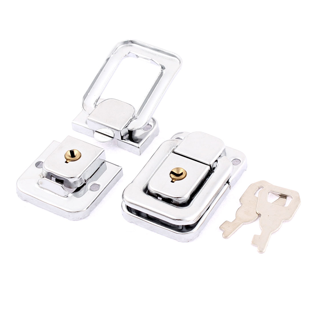 Chest Boxes Suitcase Metal Clasp Lock Toggle Latch 2Pcs