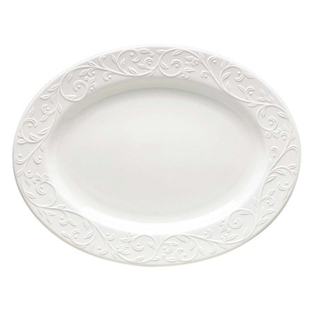 Lenox Opal Innocence Carved 16 in. Oval Platter