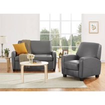 Incredible Mainstays 54 Faux Leather Loveseat Sleeper Gray Andrewgaddart Wooden Chair Designs For Living Room Andrewgaddartcom