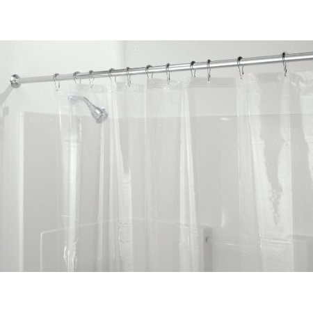 mDesign PEVA 3G Shower Curtain Liner (PACK of 2), PVC FREE, Eco Friendly, MOLD & MILDEW Resistant,