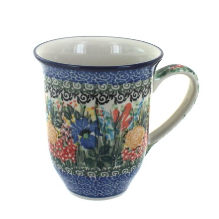 Polish Pottery Summer Blooms Large Coffee Mug