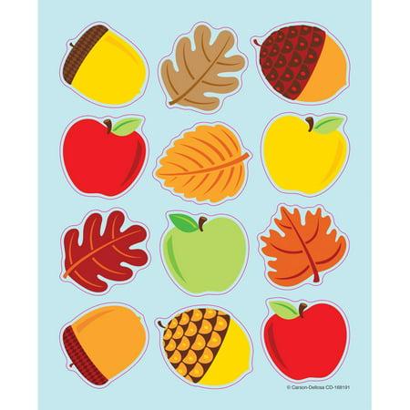 Apples, Acorns & Leaves Shape Stickers Sticker Art Shapes