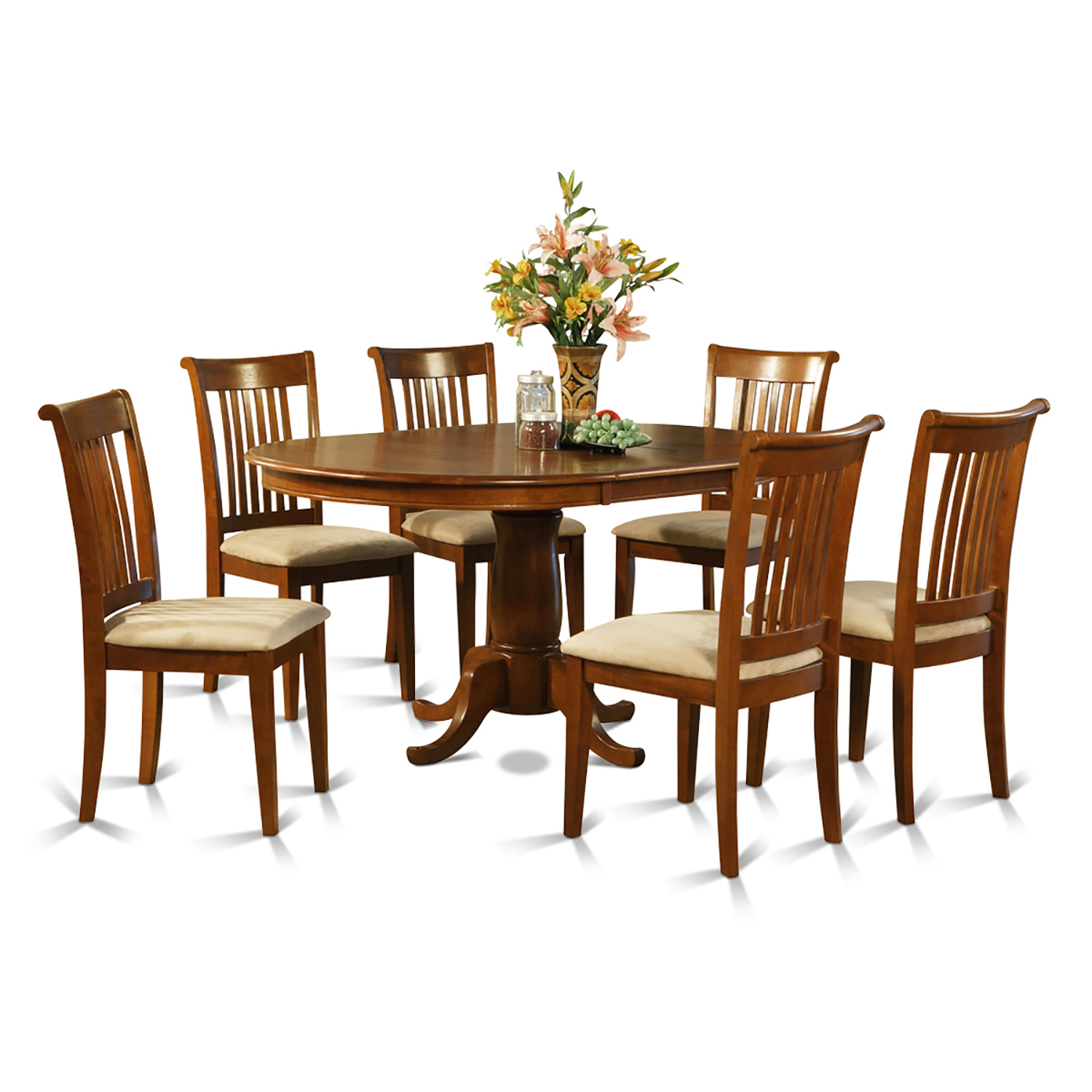 port7 sbr c 7 pc dining room set oval dining table with