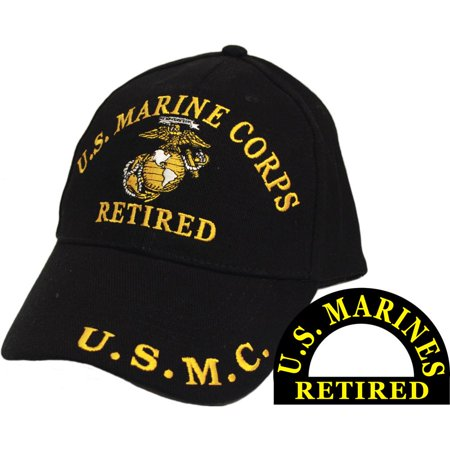 U.S. Marine Corps Retired U.S.M.C. Hat Cap Black