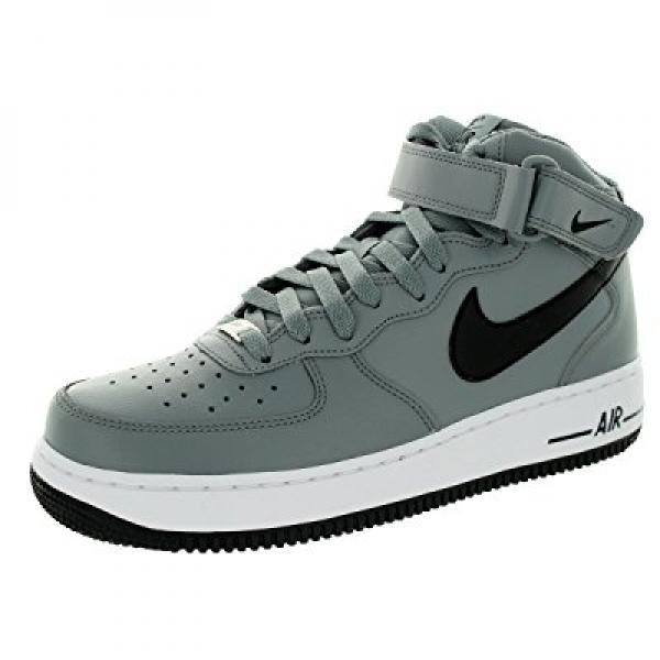 Nike Men's Air Force 1 Mid '07 Cool Grey/Black/White Bask...