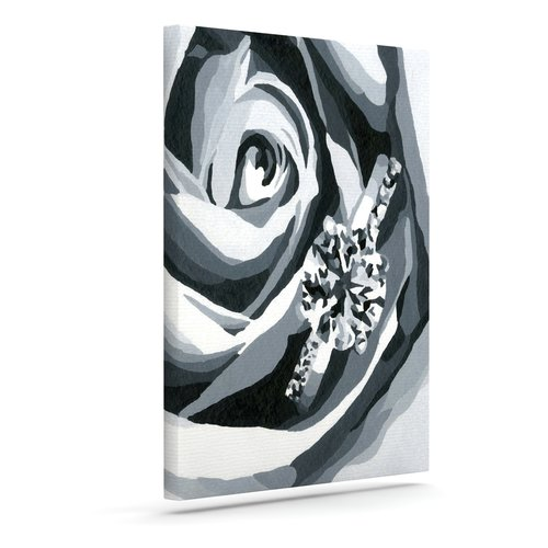East Urban Home 'Happy Engagement' Print on Canvas