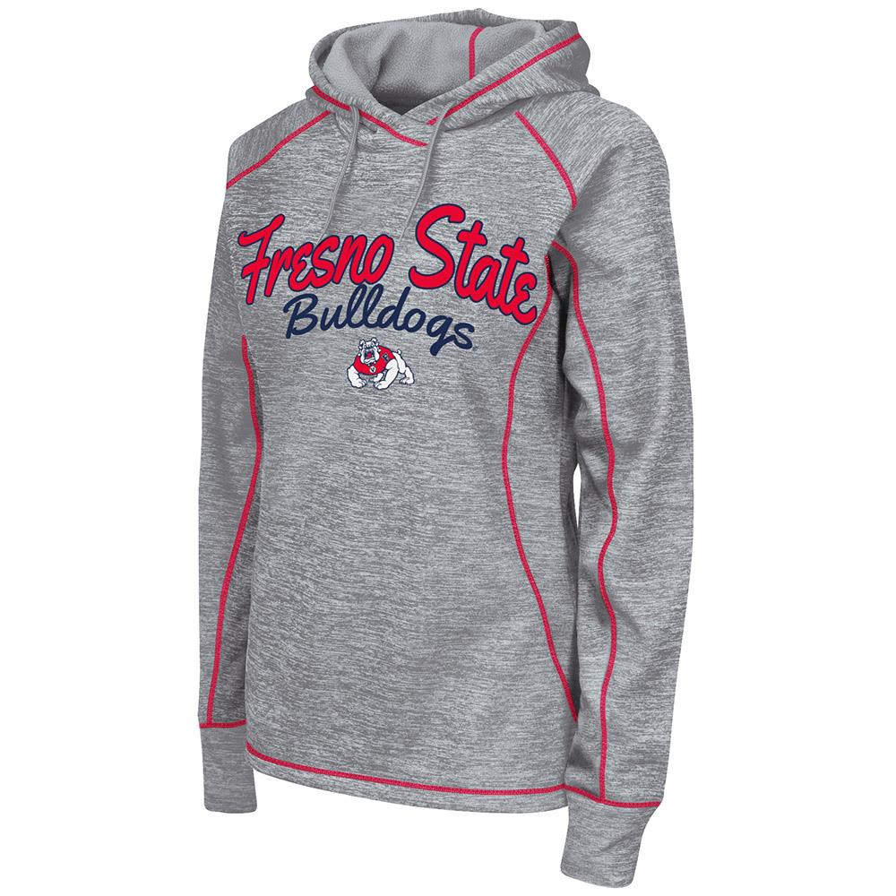 Womens NCAA Fresno State Bulldogs Poly Pull-over Hoodie