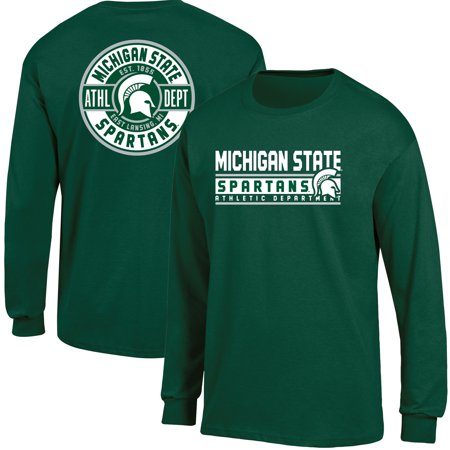 Men's Russell Athletic Green Michigan State Spartans Back Hit Long Sleeve T-Shirt