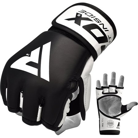 RDX T9 MMA Gloves Boxing Hand Wraps Black Grappling
