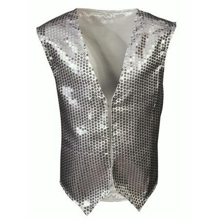 Sequin Dazzled Child Vest Silver Gold Standard Halloween Dance Costume Accessory