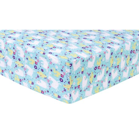Llama Paradise Deluxe Flannel Fitted Crib Sheet Walmart Com