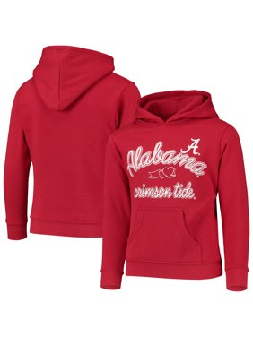 Girls Youth Russell Athletic Crimson Alabama Crimson Tide Classic Fleece Pullover Hoodie
