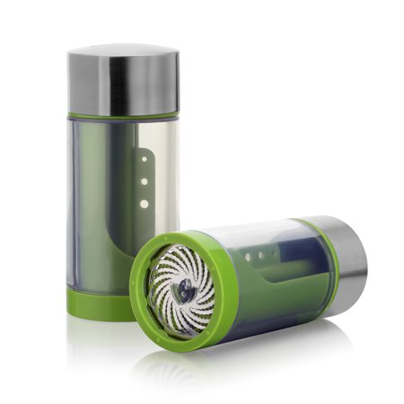 Microplane Stainless Steel Herb Mill 2.0, Green