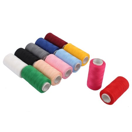 Household Needlework Clothing Stitch Thread Spools Sewing Assorted Color 12 PCS