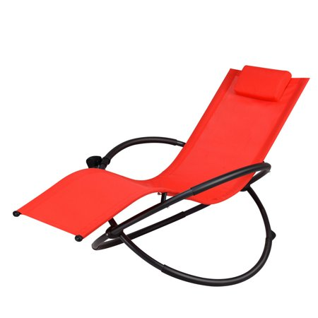 Peachy Gymax Folding Orbital Frame Zero Gravity Ergonomic Lounge Chair W Removable Pillow Red Dailytribune Chair Design For Home Dailytribuneorg