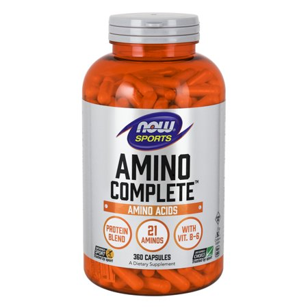 NOW Sports Nutrition, Amino Complete™ with Vitamin B-6, 360