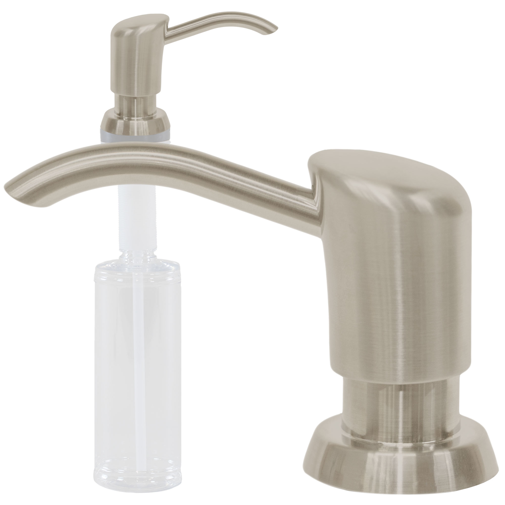 Kitchen Sink Faucet Liquid Soap Dispenser Lotion Pump   Stainless Steel