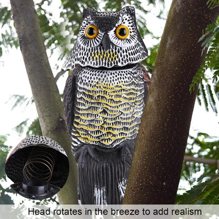 Scarecrow Decks - Decoy Pest,Rotating Head Owl Decoy Protection Repellent Bird Pest Scarer Scarecrow Garden