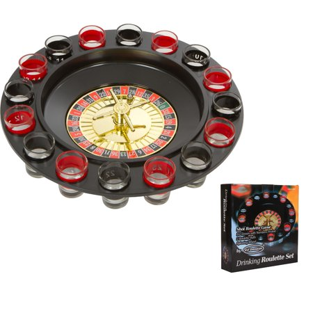 16pc Shot Roulette Game Set - Shot Spinning Drinking Game By EZ Drinker
