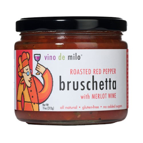 Bruschetta by Vino de Milo - Roasted Red Pepper