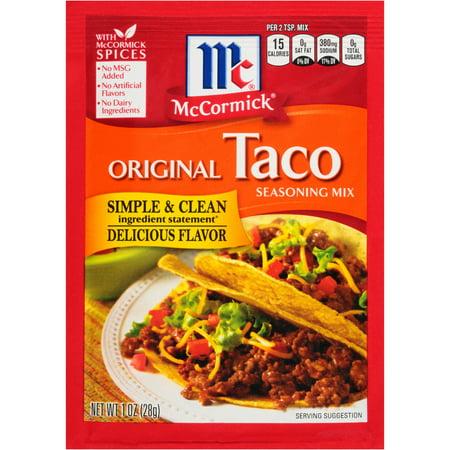 (4 Pack) McCormick Original Taco Seasoning Mix, 1