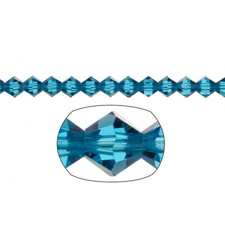 - Bicone Crystal Beads Blue Faceted xilion Crystal For Jewelry Making mm 74Cnt