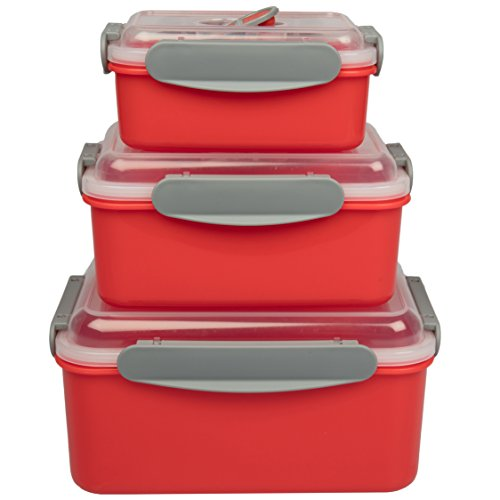 Microwave Food Storage Containers Set of 3 Nesting Microwave
