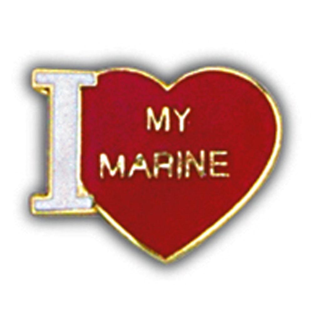 """U.S.M.C. I Love My Marine Pin 1"""""""