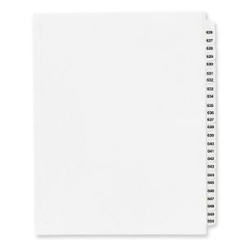 Avery Side Tab Collated Legal Index Divider 82304