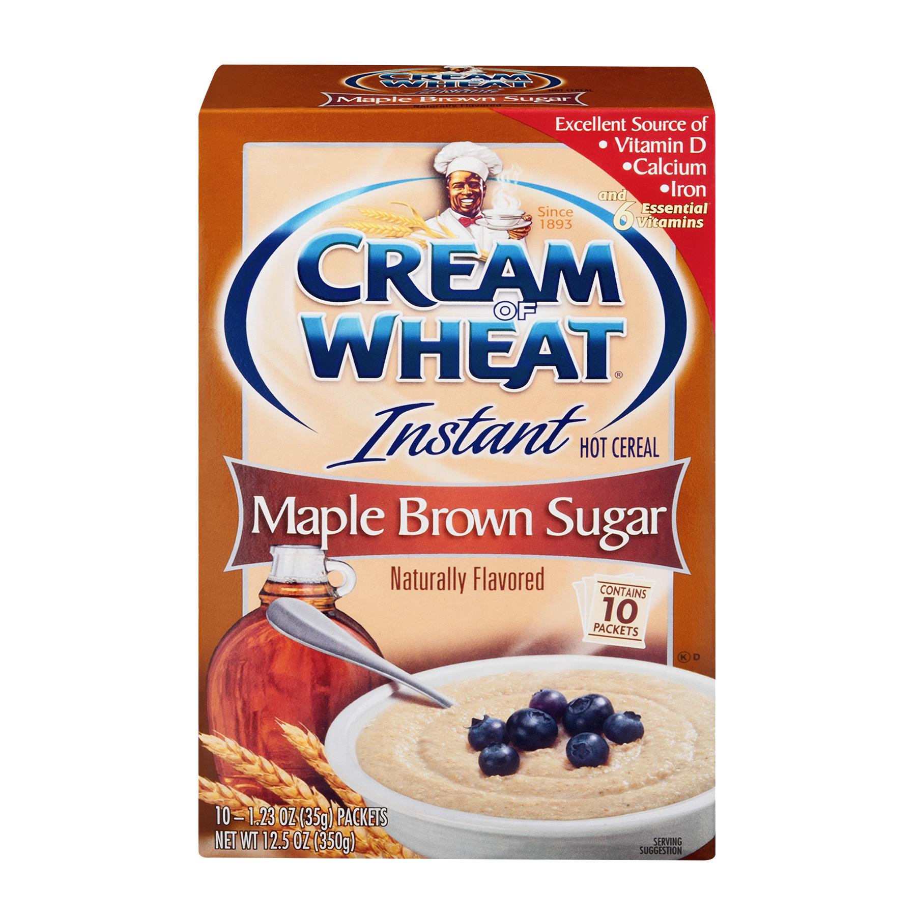 Cream Of Wheat Instant Hot Cereal, Maple Brown Sugar, , 10 Ct