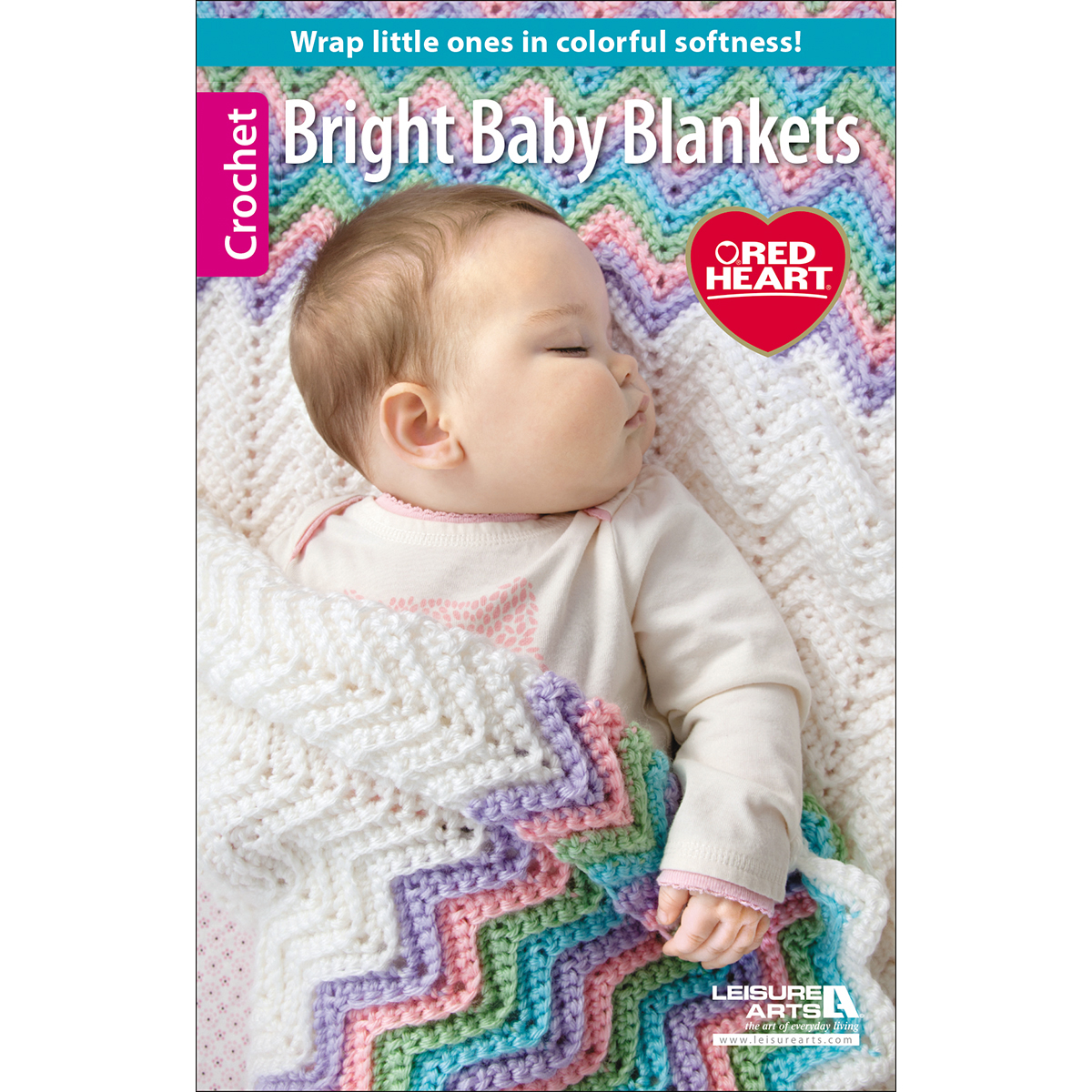Leisure Arts-Bright Baby Blankets