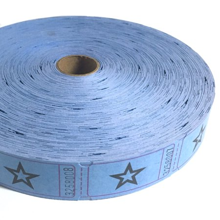 Blue Star Ticket Roll - Paper Bag Tickets
