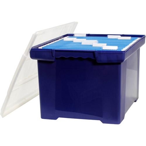 Storex Storage File Totes, Case of 4