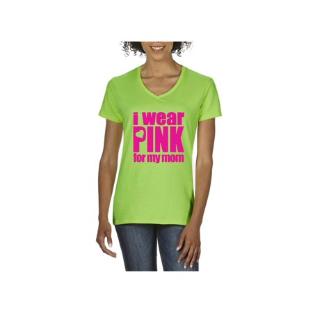 Cancer Awareness Sweatshirt All In Pink I Wear Pink for My Mom Women V-Neck T-Shirt