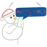 Dyno Seasonal Solutions 2-D LED Texting Snowman Christmas Decoration