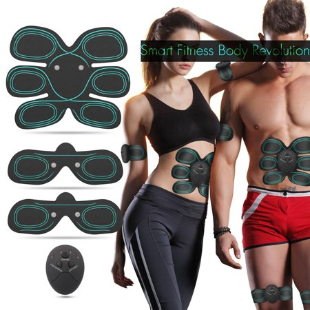 Muscle Belt (EMS Smart Home Fitness Apparatus Unisex Support For Men & Women,Abdominal Trainer Muscle Stimulator Muscle Toner Toning Belts Ab Trainer Waist Trainer Waist Trimmer Belt Training)