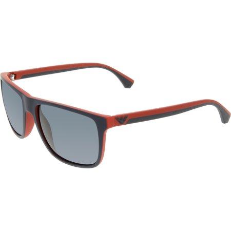 7073c78c Men's EA4033-532587-56 Blue Square Sunglasses