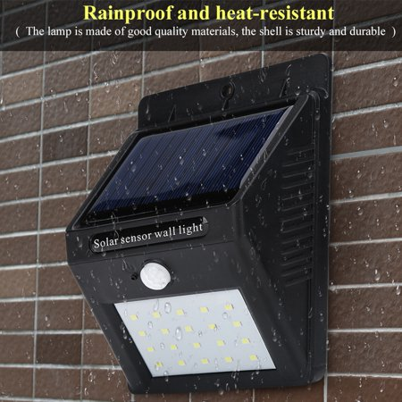 Ccdes Portable Outdoor Waterproof Solar Power LED Motion Induction Lamp Sensor Light, Outdoor Sensor Light,Sensor Lamp