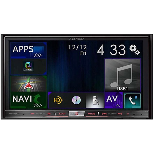 """Pioneer AVIC-8100NEX In-Dash Navigation AV Receiver with 7"""" WVGA Capacitive Touchscreen Display by Pioneer"""
