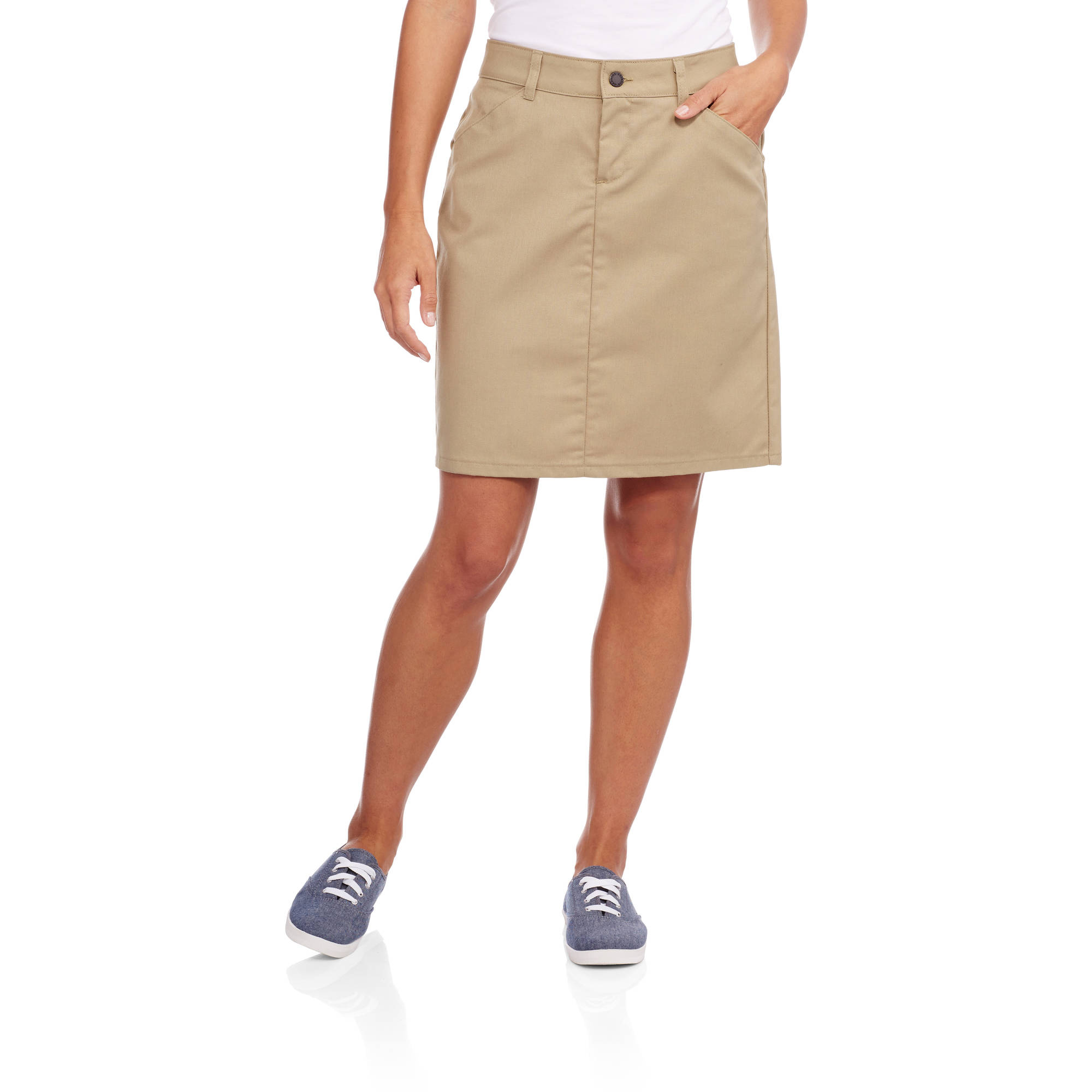 Genuine Dickies Women's Button Front Blended Twill Skirt - Walmart.com