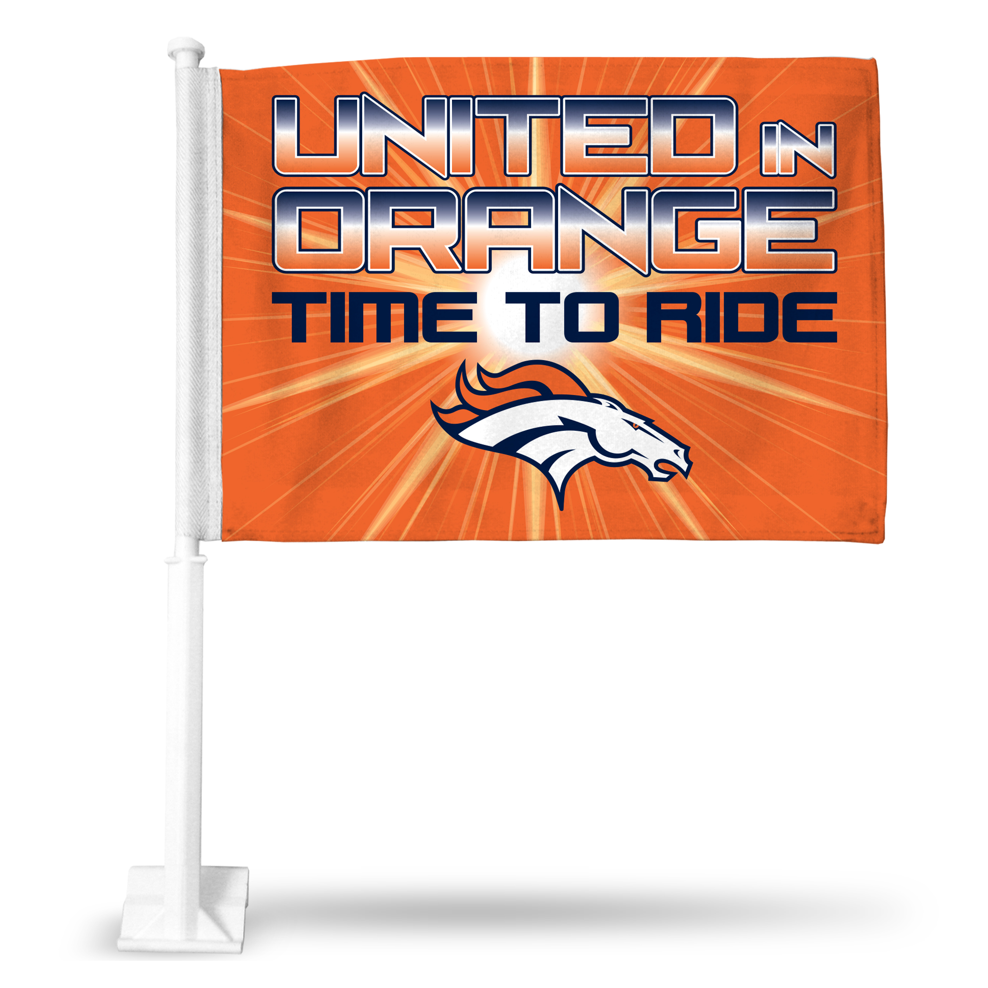 Official NFL Denver Broncos Car Flag 839505