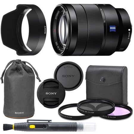 SonyVario-Tessar T FE 24-70mm f/4 ZA OSS Lens with Sony Lens Pouch, UV Filter, Circular Polarizing Filter, Fluorescent Day Filter, Sony Lens Hood, Front & Rear Caps - International Version