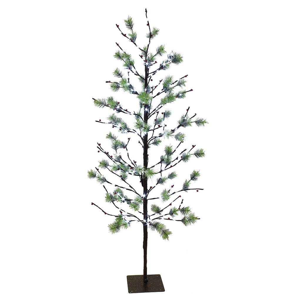 Puleo International 5 Ft Pre Lit Twig Tree With 200 White Led Twinkle Lights Brickseek