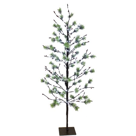 Puleo International 5 ft. Pre-Lit Twig Tree with 200 White LED Twinkle Lights ()