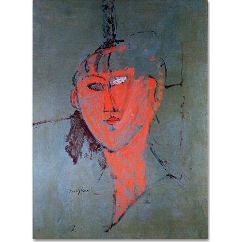"Trademark Fine Art ""The Red Head, 1915"" Canvas Art by Amadeo Modigliani"